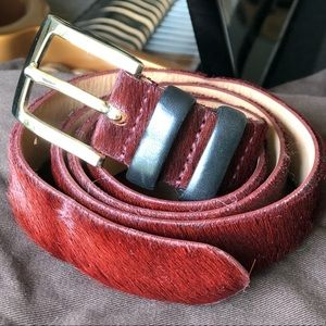 Like new Lafayette 148 pony hair belt
